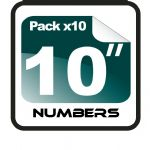 "10"" Race Numbers - 10 pack"
